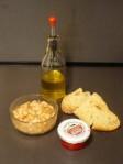 crostini con fagioli e caviale