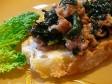 crostone salsiccia e cavolo nero