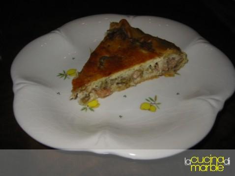 torta carciofi gamberetti granchio