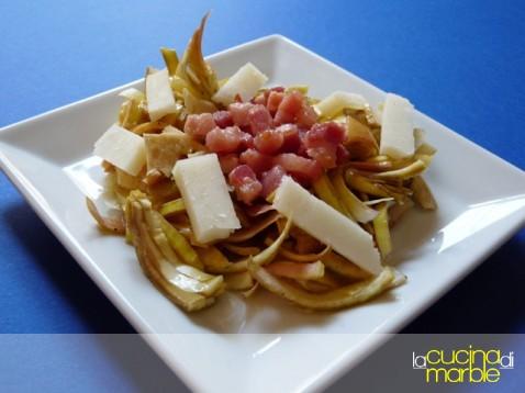 carciofi con pancetta e pecorino