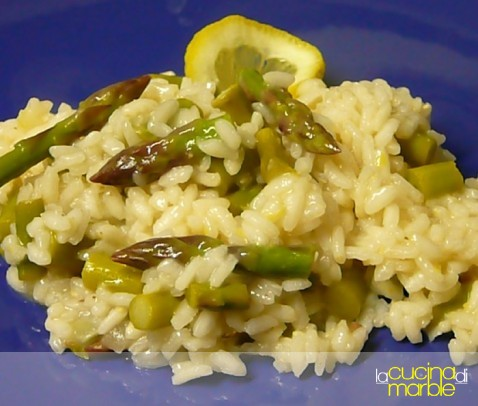 risotto asparagi e limone