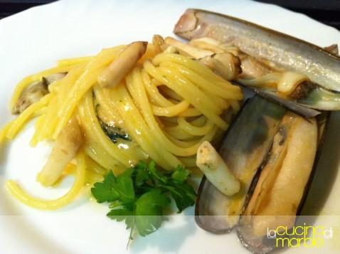 spaghetti con i cannolicchi