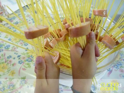 spaghetti nei wurstel ;o)